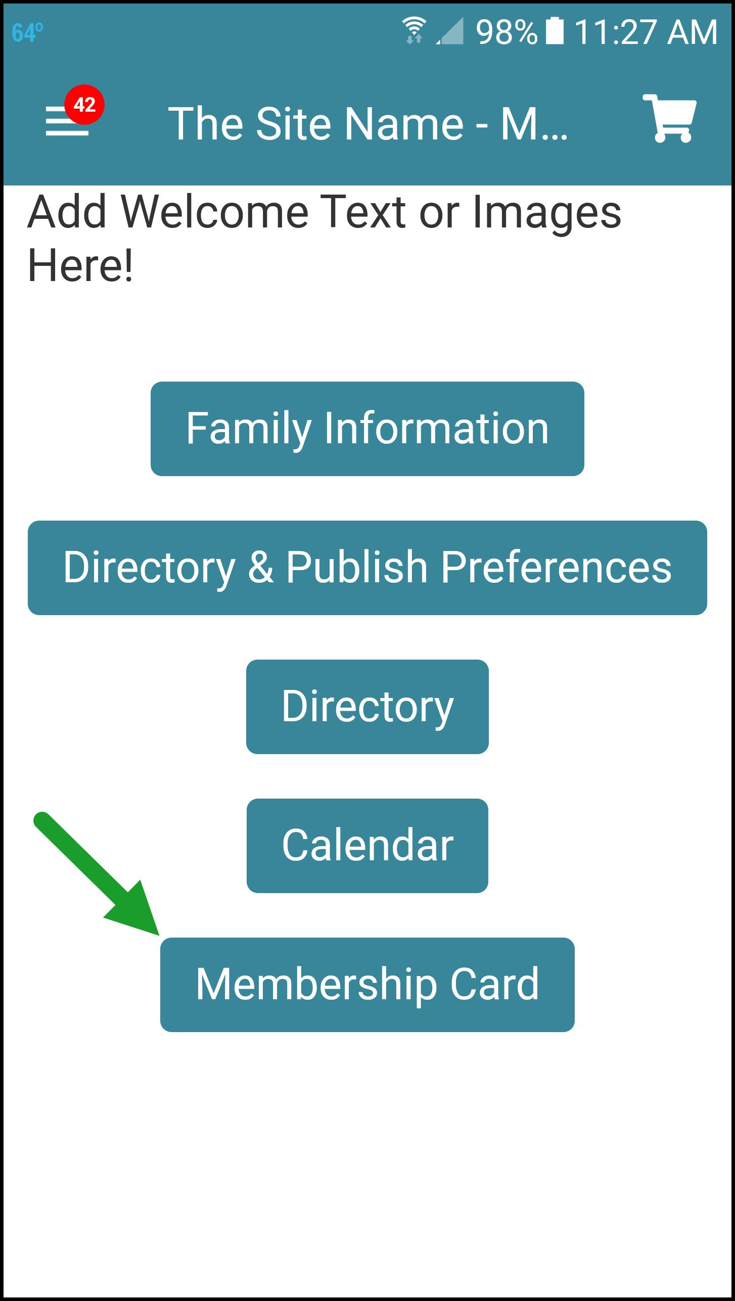 Mobile App Digital Membership Card