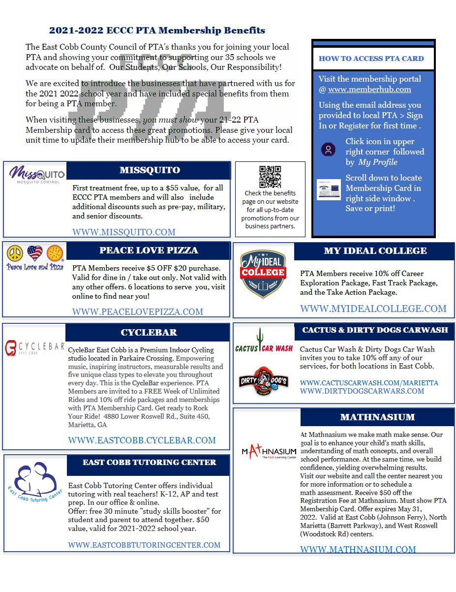ECCC PTA Benefits Flyer