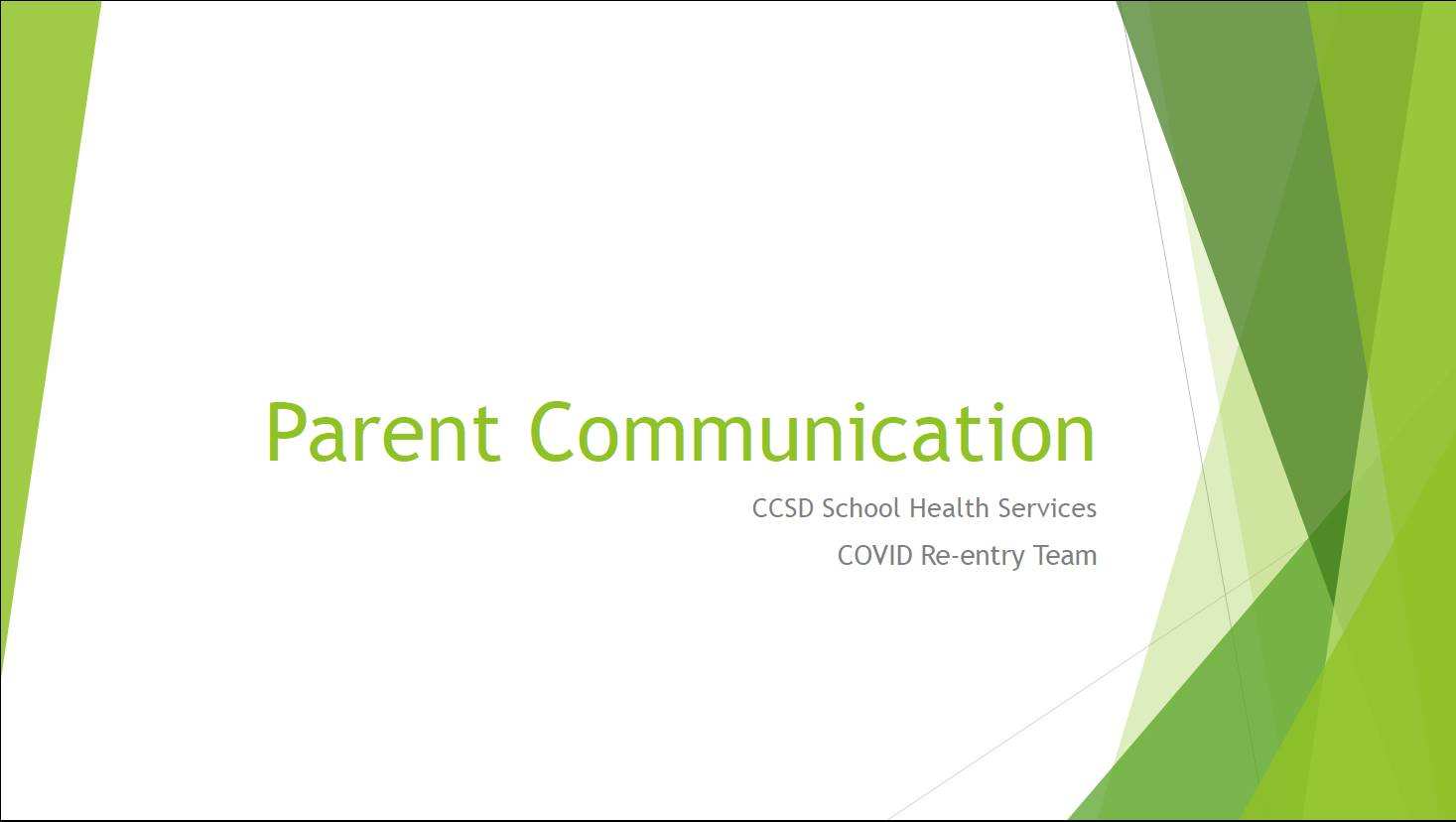 Parent Communication Clinic